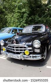 Yekaterinburg, Russia-June 12, 2015: Exhibition of retro cars. GAZ-12 ZIM