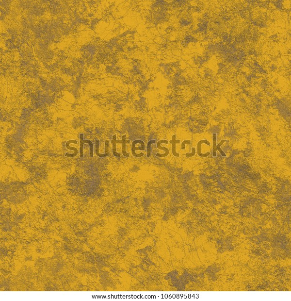 Yellow abstract background, seamless texture of plaster or wallpaper.
