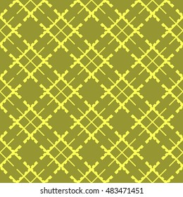 Yellow abstract background, striped textured geometric seamless pattern