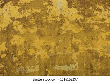 Yellow abstract concrete grunge background