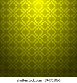 Yellow abstract striped textured geometric pattern