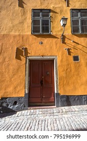 Yellow Apartment Building in Old Town,Stockholm -Sweden
