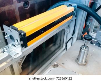 yellow automatic sensor install in machine or area need to safety control