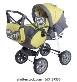 yellow baby carriage