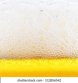The yellow background - the detail of beer