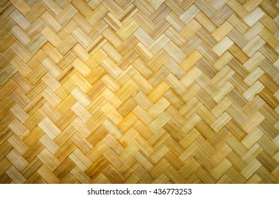 Yellow bamboo wood, bamboo wood popular weave.
