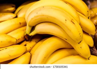 yellow bananas on the counter