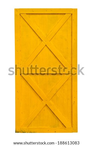 Yellow Barn Door Isolated On White Stock Photo Edit Now 188613083