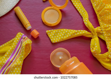 Grwm Images Stock Photos Vectors Shutterstock This could be the only one professional web page dedicated to explaining the meaning of grwm (grwm acronym/abbreviation/slang word). https www shutterstock com image photo yellow beach essential like swimsuit sunscreen 1022757085