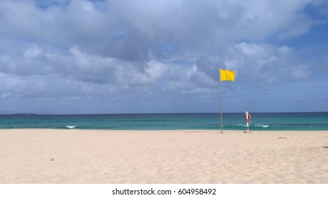 Yellow Beach Flag.