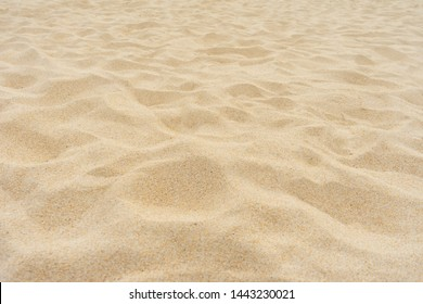 Yellow beach sand texture background. Full frame shot