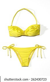 Yellow Bikini Swimsuit