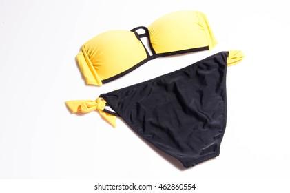 Yellow Bikini Swimsuit