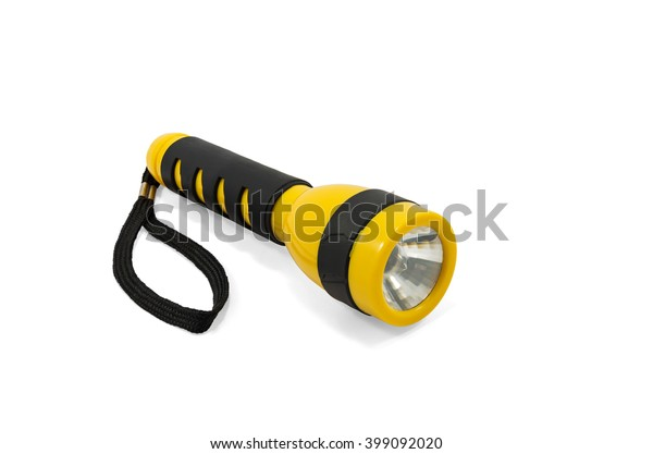 yellow-black-pocket-electric-flashlight-