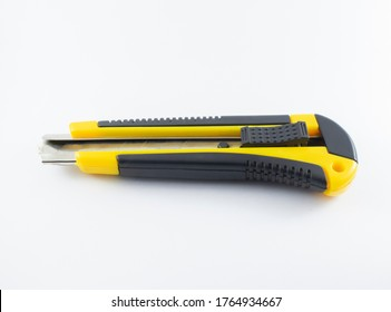 Yellow and black ratchet on white background
