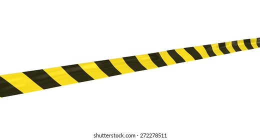 Yellow and Black Striped Hazard Tape at Angle