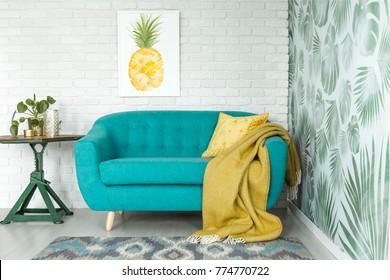 Pleasant Yellow Couch Images Stock Photos Vectors Shutterstock Uwap Interior Chair Design Uwaporg