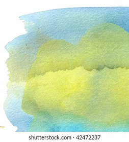 yellow and blue       abstract watercolor background