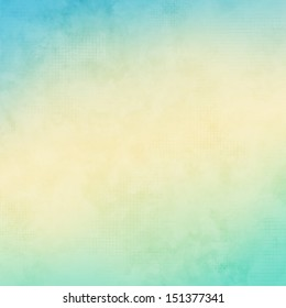 Yellow and blue grunge background
