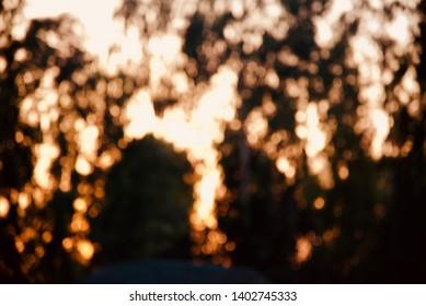 Yellow blurry illuminated glowing lights unique background photo