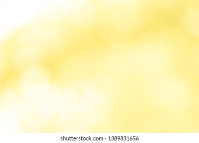 Yellow bokeh background from nature