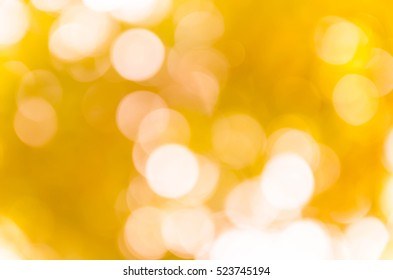 yellow bokeh background from nature under tree shade