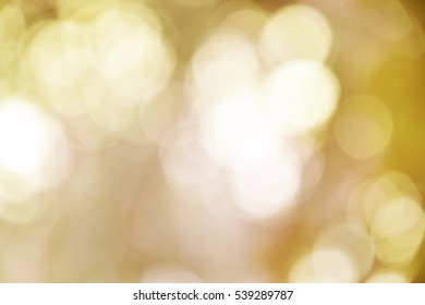 Yellow bokeh background from nature vintage tone