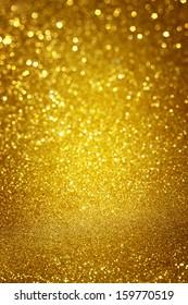 yellow bokeh glitter lights background