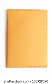 yellow book on white
