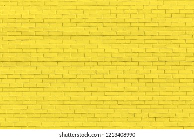 Yellow brick wall for background or texture