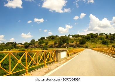 Yellow bridge at south of Portugal