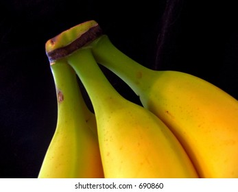 yellow bunch banana bananas