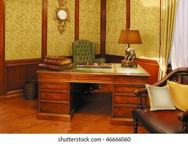 yellow cabinet interior