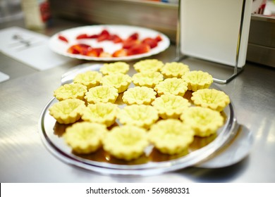 yellow cakes on the plate