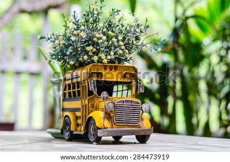 Yellow car flower vase & Yellow Car Flower Vase Stock Photo (Edit Now) 284473919 - Shutterstock