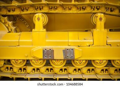 yellow caterpillar track