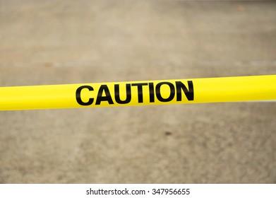 yellow caution strip