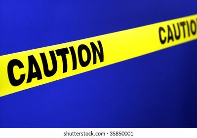yellow caution tape