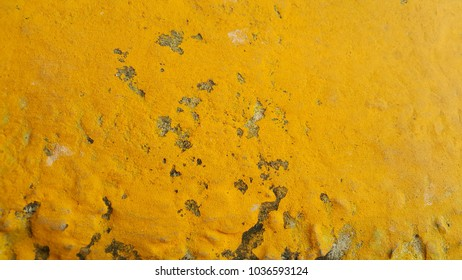 Yellow cement floor surface , old texture