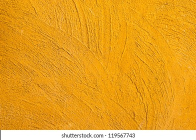Yellow cement wall texture.