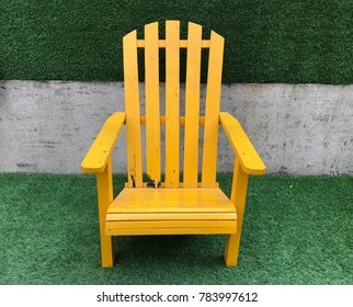 Yellow chair on park