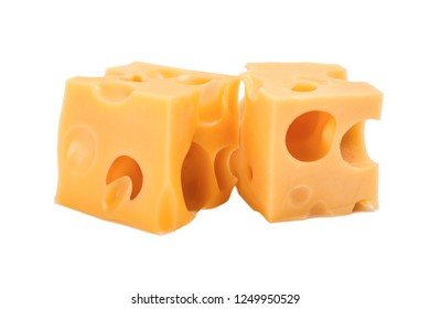 Yellow Cheese isolated on white background