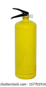 Yellow Chemical fire extinguisher