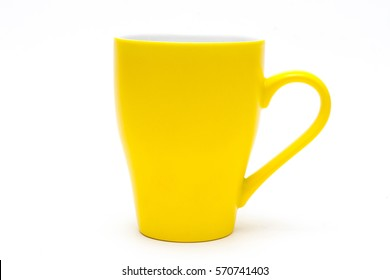 yellow circle on a white background
