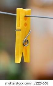 Yellow Cloth Peg