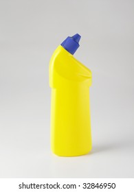 yellow color container on the plain color background