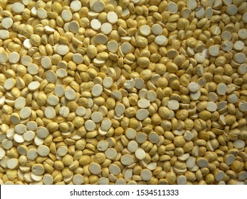 Yellow color roasted Chana dal or chickpea lentils Indian snack