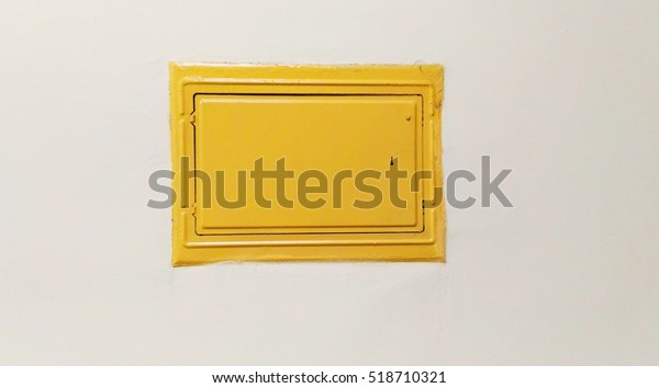 Yellow Cover Fuse Box Wall Stock Photo (Edit Now) 518710321 on
