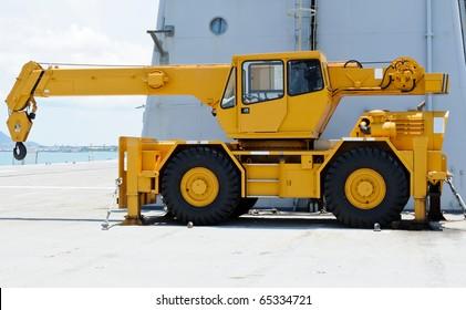 Yellow crane