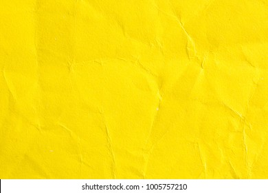 Yellow Crumpled Paper Background